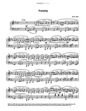 Sheet Music Maarten Smit - Tramping