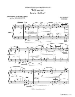 Sheet Music Träumerei
