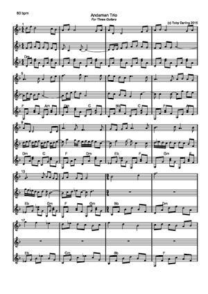 Sheet Music Andaman Trio
