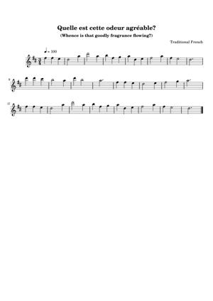 Sheet Music Traditional French - Quelle Est Cette Odeur Agreable