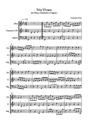 Sheet Music Trio Vivace