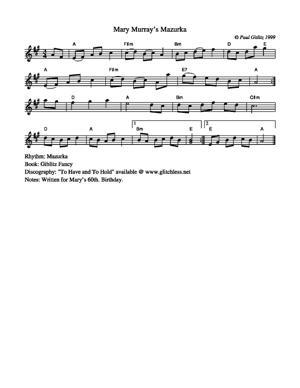 Sheet Music Mary Murray's Mazurka