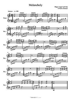 Sheet Music Melancholy