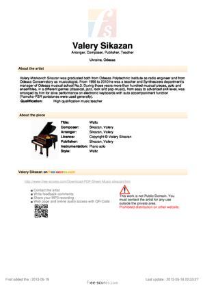 Sheet Music Waltz