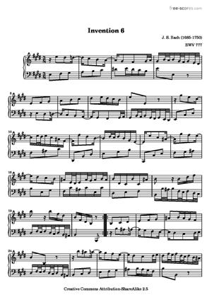 Sheet Music Invention 6
