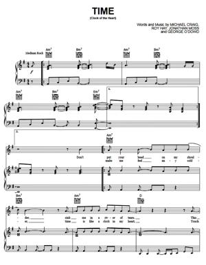 Sheet Music Culture Club - Time (Clock Of The Heart)