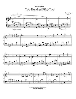 Sheet Music Two Hundred Fifty-Two