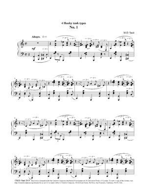 Sheet Music Maarten Smit - 4 Honky Tonk Types No. 1