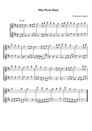Sheet Music Traditional English - The First Noel