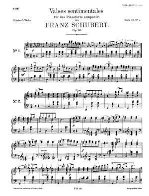 Sheet Music 34 Valses Sentimentales