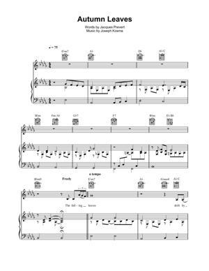 Sheet Music Traditional - Autumn Leaves Piano Sheet Music