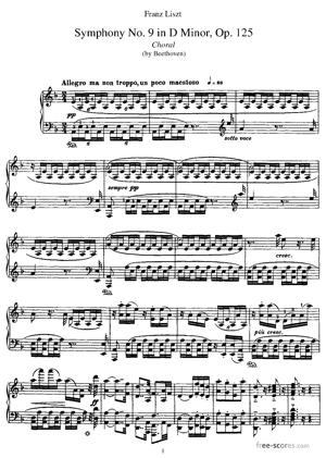 Sheet Music Symphony No. 9 in D minor