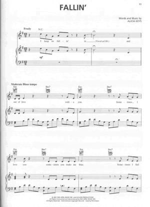 Sheet Music Alicia Keys - Fallin