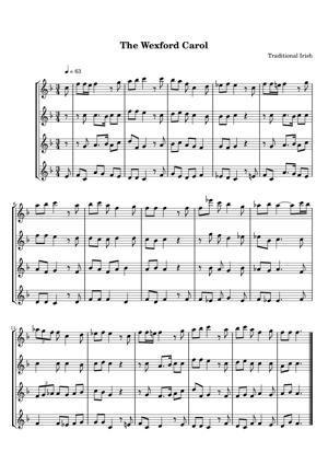 Sheet Music Traditional Irish - The Wexford Carol