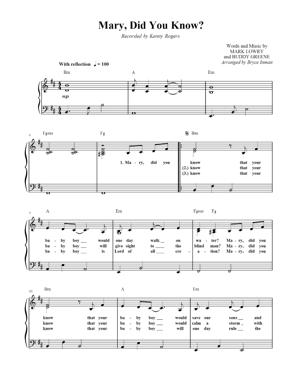 Sheet Music Christmas Sheet Music - Mary Did You Know