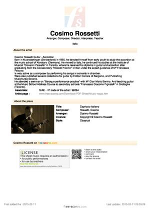 Sheet Music Capriccio italiano