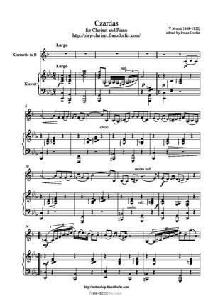 Sheet Music Czardas