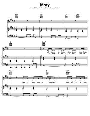 Sheet Music Scissor Sisters - Mary