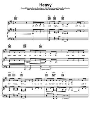 Sheet Music Linkin Park - Heavy