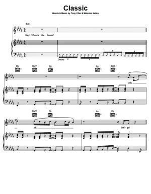 Sheet Music MKTO - Classic
