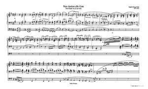 Sheet Music Nun danket alle Gott