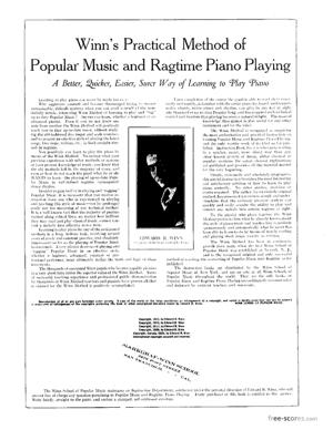 Sheet Music Winn, Edward R. : Winn's Practical Method of Popular Music: Rag and Jazz Piano Playing
