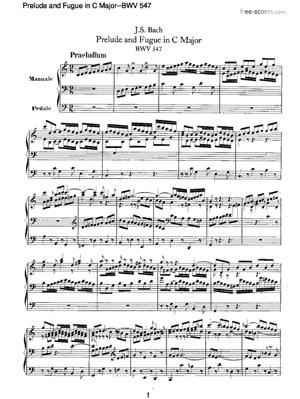 Sheet Music Prelude and Fugue in C Major
