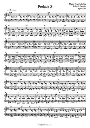 Sheet Music Prelude 5