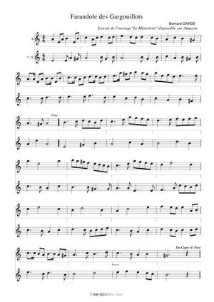 Sheet Music Farandole des Gargouillots