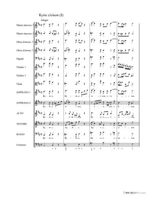 Sheet Music Mass in B Minor