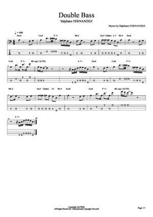 Sheet Music Double Bass