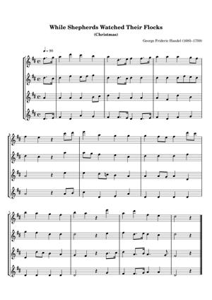 Sheet Music George Frideric Handel (1685–1759) - While Shepherds Watched Their Flocks