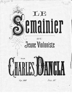 Sheet Music Le Semainier du jeune violoniste