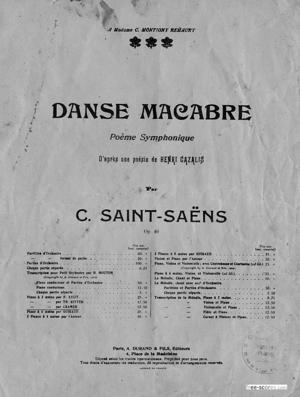 Sheet Music Danse macabre
