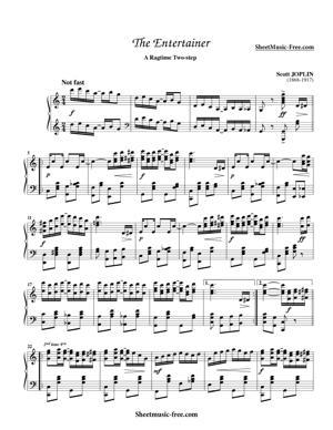 Sheet Music Scott Joplin - The Entertainer