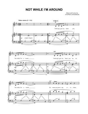 Sheet Music Barbra Streisand - Not While I'm Around (From Sweeney Todd)