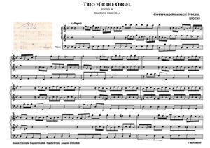 Sheet Music Trio ex B Dur für Orgel (I Mov.)