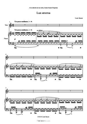 Sheet Music Lux æterna