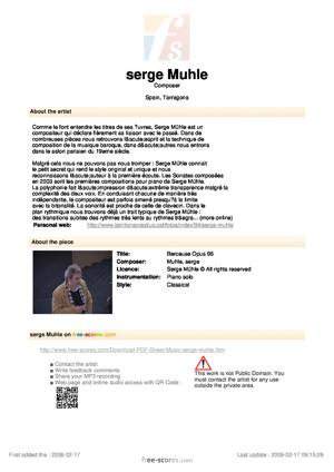 Sheet Music Berceuse Opus 96