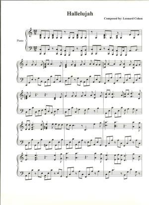 Sheet Music Leonard Cohen - Hallelujah