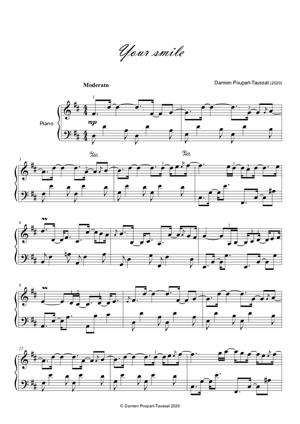 Sheet Music Your smile