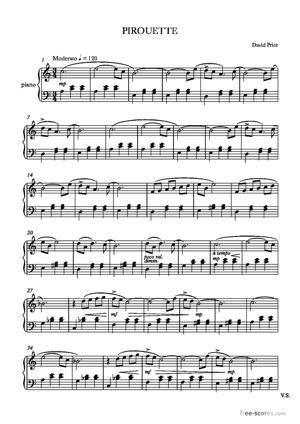 Sheet Music Pirouette