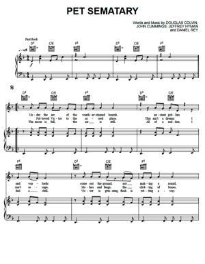 Sheet Music Ramones - Pet Sematary