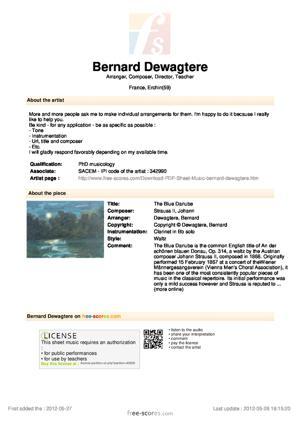 Sheet Music The Blue Danube