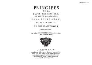 Sheet Music Principes de la Flute Traversiere, de la Flute a Bec, et du Haut-bois