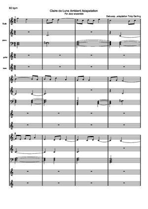 Sheet Music Clair de Lune Ambient
