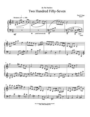 Sheet Music Two Hundred Fifty-Seven