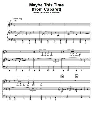 Sheet Music from Musical Cabaret - Maybe This Time