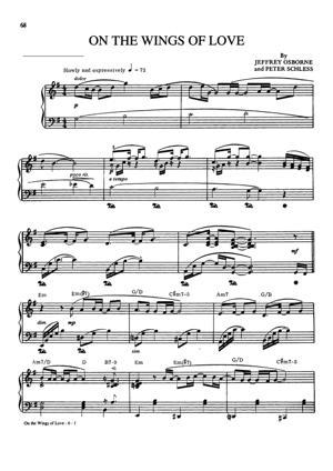 Sheet Music Jeffrey Osborne - On The Wings Of Love