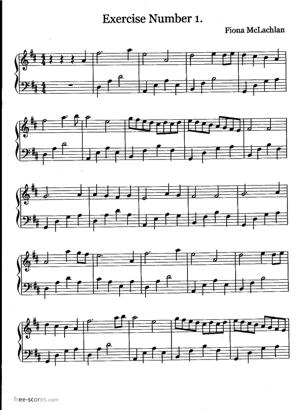 Sheet Music Exercise Number 1.